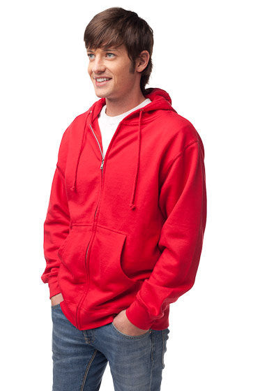 Mens Midweight Full Zip Hooded Sweatshirt