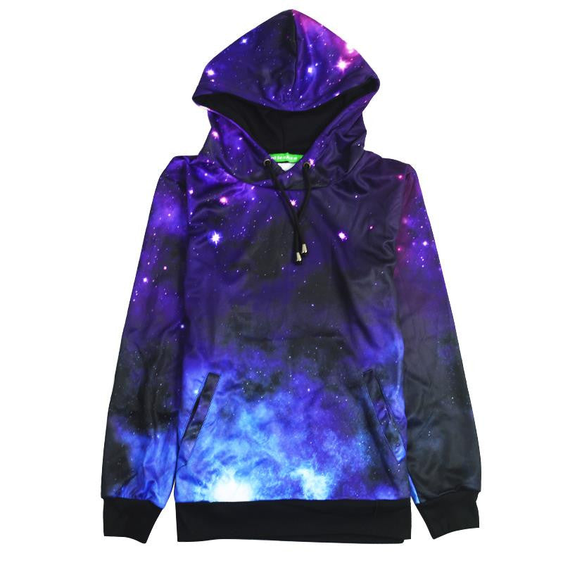3 D Space Galaxy Unisex Pullover Hoodie