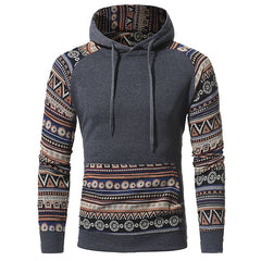 TRIBAL PULLOVER-CHARCOAL