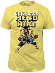 LUKE CAGE HERO FOR HIRE MENS FITTED JERSEY TEE