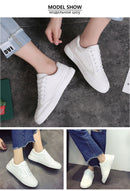 lace-up shoes solid sewing shallow casual canvas shoes