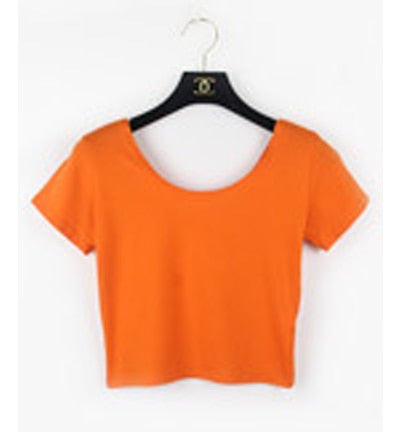 Round Neck Short Sleeve Simple Basic Bottoming T-Shirt