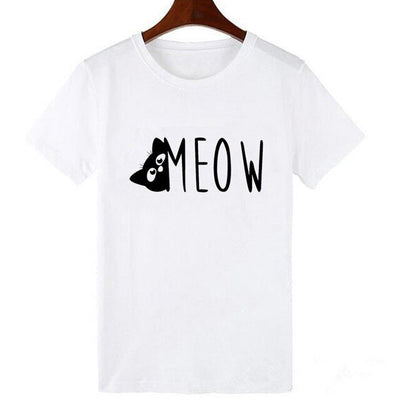 Cat meme print T-shirt code 18