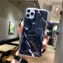 12 COLOR Gold Foil Marble Glitter Soft TPU For iPhone 12