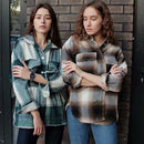 Plaid women oversize woolen shirts