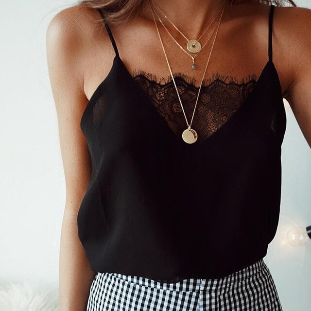 Lace Thin Camis Slip Tank Tops