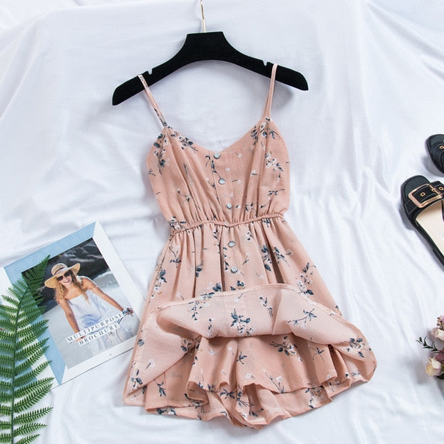 Sweet Summer Casual Fashion Bohemian Thin Strap Dress