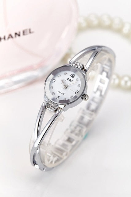Rhinestone Watches Women Luxury Brand Stainless Steel