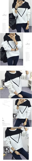 Spell Color Patchwork Hoodies