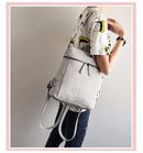 Simple Style Backpack Leather