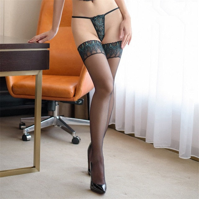 Thigh High Sexy Stockings Long Silicone