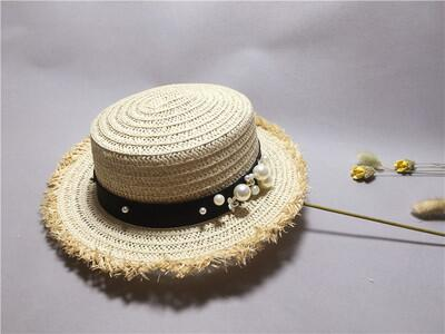 lovely Flat top straw hat Summer Spring women's trip caps