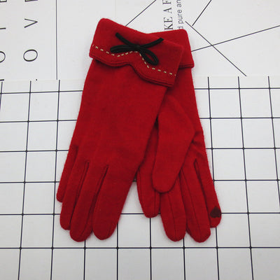 Elegant Female Wool Touch Screen Gloves