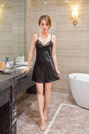 Sexy Lace Satin Sleepwear Nightdress