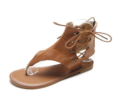 Flip-Flops Beach Leather Flat Sandals