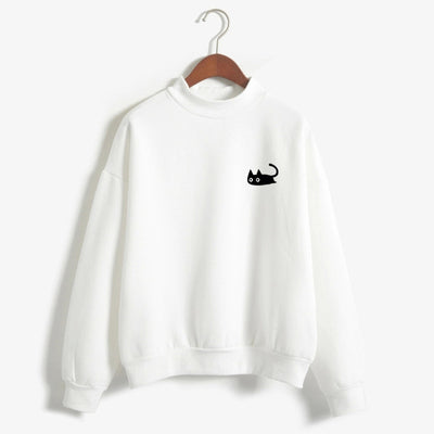 ava Black Cat Sweatshirts
