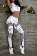 High Elastic Leggings Printing Fitness
