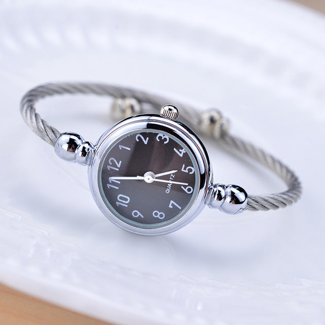 Simple silver women watches