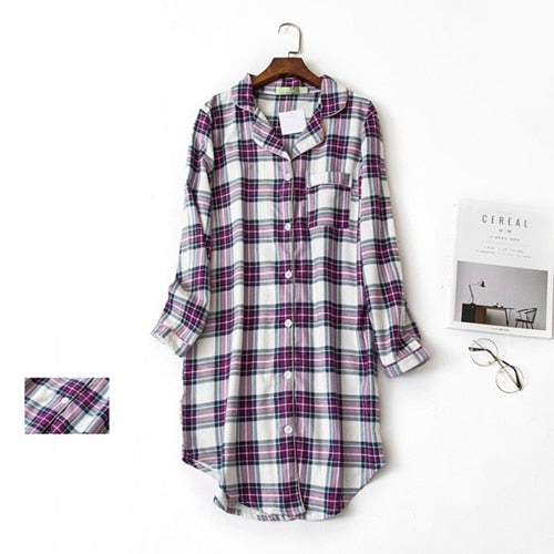 Flannel Boyfriend Nightshirt
