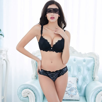Europe Girl Sexy Lace Bra Set