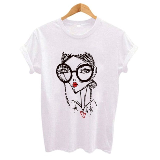 Cool Girl Print t shirt