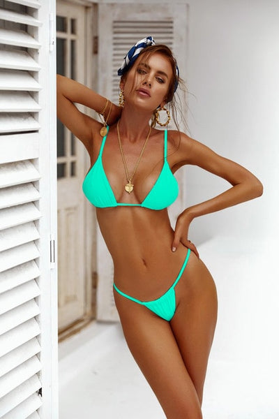 Thong Bikinis Set Swimwear