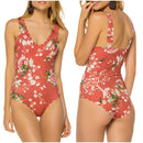 Floral print one piece bodysuit