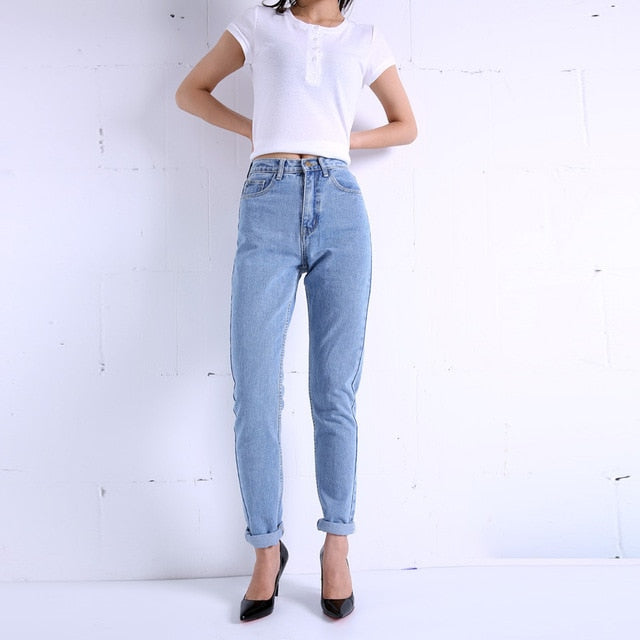 Slim Pencil Pants Vintage High Waist Jeans new