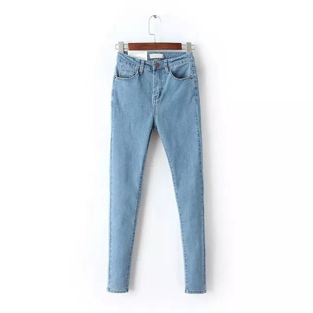 Vintage Mom Fit High Waist Jeans Elastic Femme
