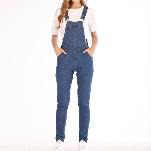 blue sky Fashion Denim  Bib Pants jumpsuits
