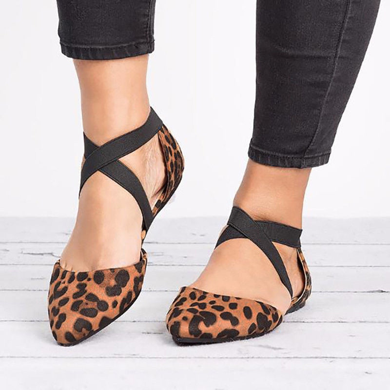 Leopard print  Fashion Pointed Toe Flats