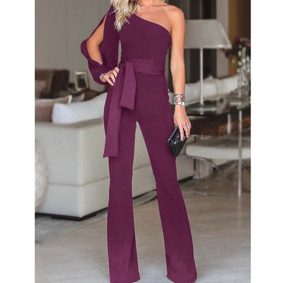 arrival Clubwear One Shoulder High Waist Rompers