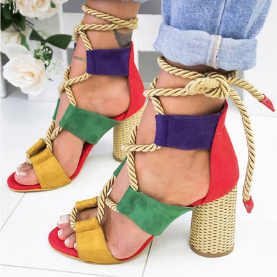 Lace Up High Heels For Party