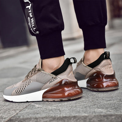 Breathable Mesh Walking Lace Up Flat Sneakers