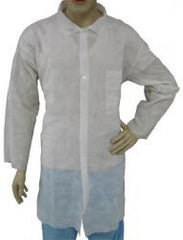 Epic Disposable Cleanroom Lab Coat, Polypropylene, Open Wrist, Single Pocket