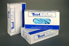 Techniglove Powder Free Nitrile Gloves, 9.5 inch, PVC Dispenser Box, Cleanroom Certified