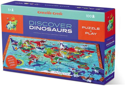 Crocodile Creek Dinosaurs Discover Learn+Play Puzzle 100 pc