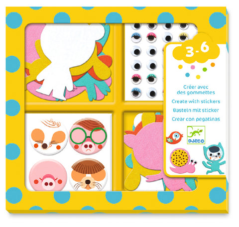 Djeco I Love Animals Stickers