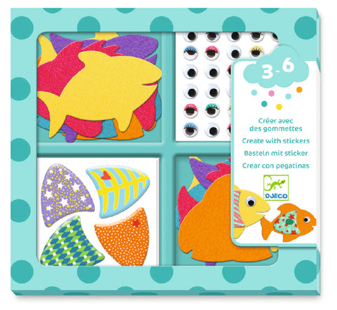 Djeco I Love Fishes Stickers