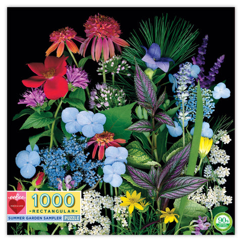 eeBoo Summer Garden Sampler 1000pc puzzle