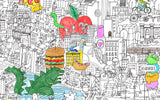 The Big Apple Big Coloring Poster