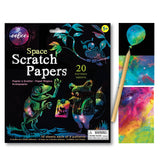 eeBoo Space Scratch Paper