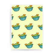 Guacamole pattern design funny print poster framed wall art decor - Graphic Gear