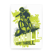 Downhill biking mountain bike print poster framed wall art decor - Graphic Gear