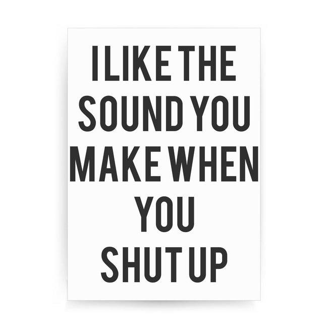 I like the sound funny rude offensive print poster framed wall art decor - Graphic Gear