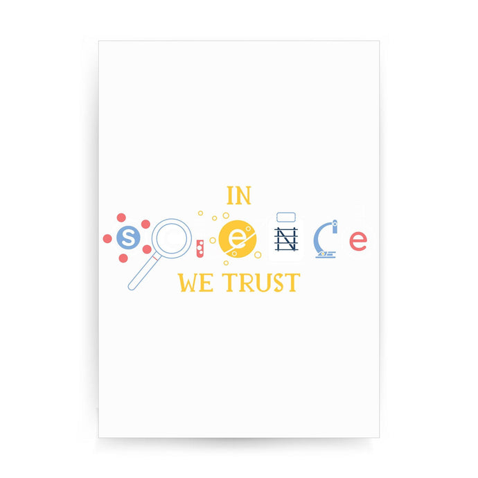 Science quote funny print poster framed wall art decor