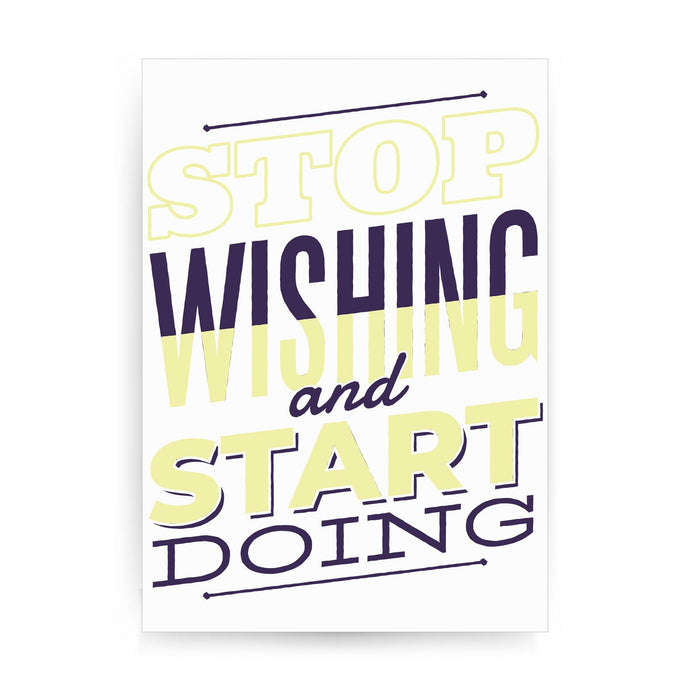 Start doing motivational print poster framed wall art decor