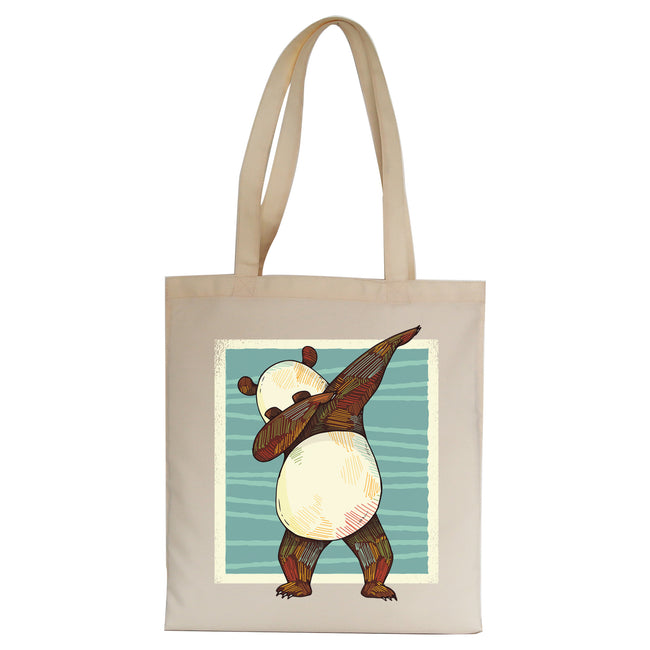 Panda dabbing funny Tote Bag Canvas Shopping - Graphic Gear