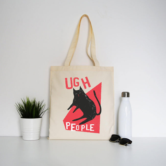 Ugh people funny rude offensive tote bag canvas shopping - Graphic Gear