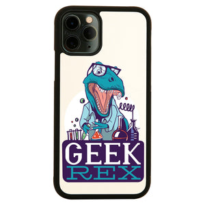 Geek t-rex funny iPhone case cover 11 11Pro Max XS XR X